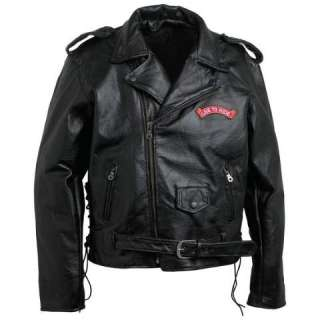 Mens Leather, Live to Ride, USA, Motorcycle Jacket NEW