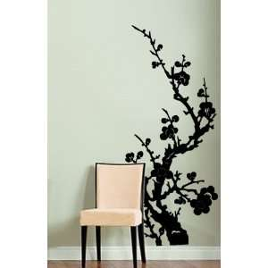 Vinyl Wall Art Decal Sticker Japanese Flower Floral 46x21