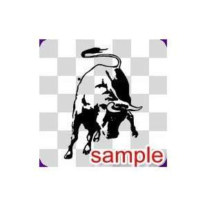 ANIMAL RAGING BULL WHITE VINYL DECAL STICKER Everything