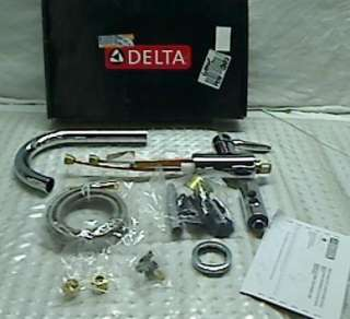 Delta Grail 985LF Single Handle Pull Down Kitchen Faucet, Chrome
