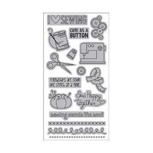 Autumn Leaves Cling Rubber Stamp 4.25X9.5/Pkg   Sewing
