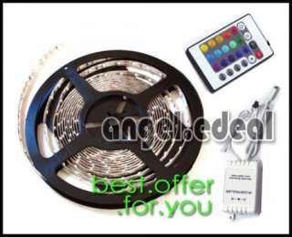 BF 5M RGB Flash 5050 SMD LED Strip Light + Remote Power