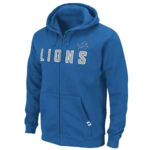 NFL Detroit Lions Classic Heavyweight Full Zip Jacket Adult Long