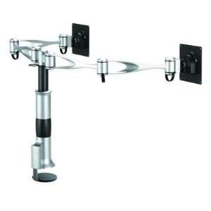 Dual Monitor Desk Mount   Dual Swing Arm Base Type