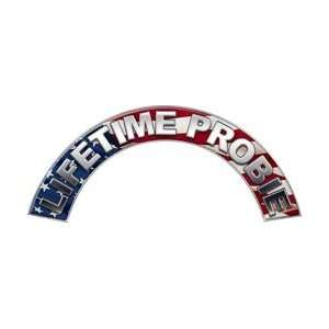 Lifetime Probie American Flag Firefighter Fire Helmet Arcs
