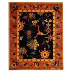 Ancient Weave Area Rug in Black & Red   Grandin Road
