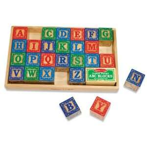 MELISSA & DOUG WOODEN ALPHABET ABC BLOCKS Toys & Games