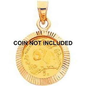 14K Yellow Gold Bezel for 1/20oz Chinese Panda Coin I