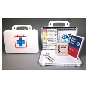 (16 unit) Plastic First Aid Kit (case w/supplies) (1/ea