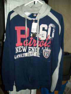 New England Patriots NFL Team Apparel Fleece Hooded Full Zip Jacket