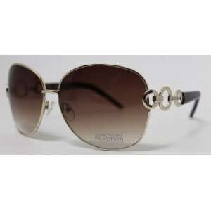 Kenneth Cole Reaction Sunglass Gold Modified Fashion