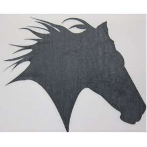Med Black Glitter Horse Head Silhouette Car, Truck Window