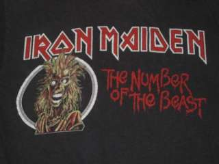 vintage guaranteed free u s shipping original iron maiden the number