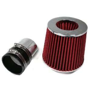 Ram Air Intake Kit + Filter By Bomz Racing Black/Red