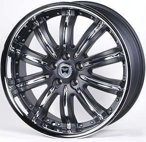 GWG G22 20 MAT BLACK WHEELS RIMS CADILLAC CTS (2003 & 2007)