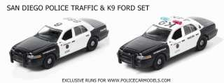 64 San Diego Police Ford Crown Victoria Set   Traffic & K9 Cars