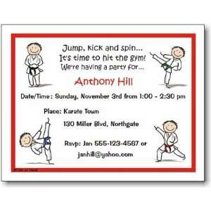Pen At Hand Stick Figures   Invitations   Karate   Boy