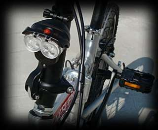 Bright White LED Bike Bicycle Head LIght Lamp Torch HL 100