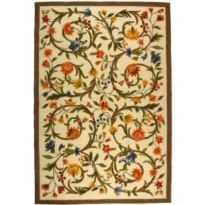 Chelsea Collection Hand Hooked Floral Wool Area Rug 8.90 x