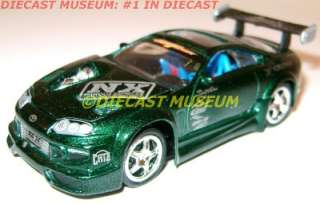 97 TOYOTA SUPRA GREEN LOOSE DIECAST MUSCLE MACHINES IMPORT TUNER NICE