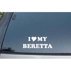 I Love My Beretta Vinyl Decal Stickers