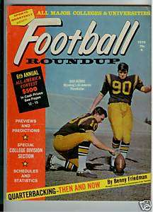 1970 COLLEGE FOOTBALL ROUNDUP MAG BOB JACOBS COVER