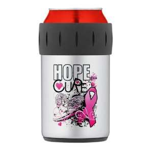 Thermos Can Cooler Koozie Cancer Hope for a Cure   Pink