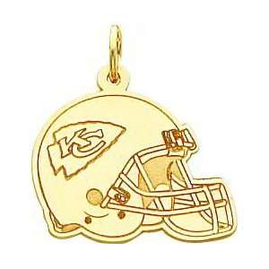 14K Gold NFL Kansas City Chiefs Football Helmet Charm