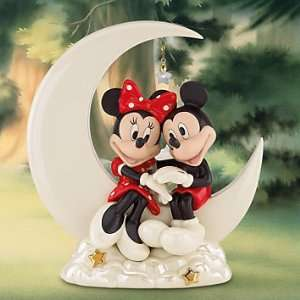 Lenox Disney Mickey & Minnie Mouse Over the Moon Figurine