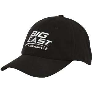 Big East Conference Black Peached Twill Structured