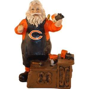 Chicago Bears Workshop Santa Christmas Tree Ornament by