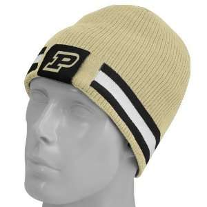 Nike Purdue Boilermakers Gold/Black Reversible Knit Beanie
