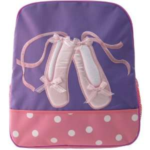 Kids Girls Purple Pink Ballet Slippers Backpack item