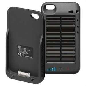 IPhone 4 4S External Solar Powered Battery Pack Charger Case/Cover