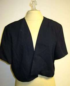 After Dark Navy blue sleeveless formal dress jacket 18