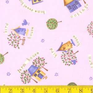 45 Wide Farm House Pink Fabric By The Yard Arts, Crafts