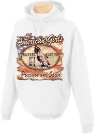 Precision Speed Barrel Racing Cowgirl Hooded Sweatshirt