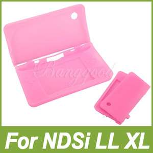 New Pink Silicone Skin Case For Nintendo DSi NDSi LL XL