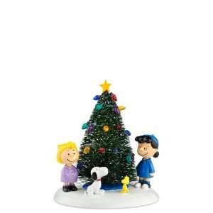 Enesco Peanuts Village O Christmas Tree Figurine