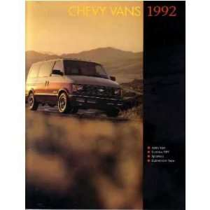 1992 CHEVROLET VAN Sales Brochure Literature Book