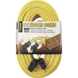 Prime Wire & Cable 125 Volt Outdoor Extension Cord   100Ft