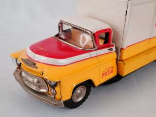 Battery Operated Japan Advertising Coca Cola Tin GMC Toy Truck