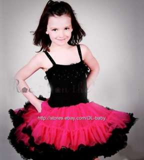 bow Ballet child kids baby toddler girl Skirt Tutu 1 7 yrs