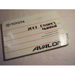 2001 Toyota Avalon Owners Manual Toyota Books
