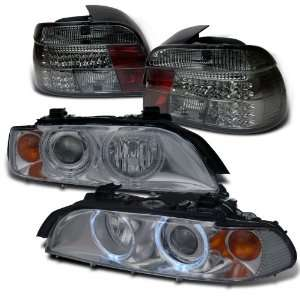 BMW E39 5 series Smoke Projector Head+led Tail Lights Brand New Set