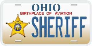 Ohio Sheriff Aluminum Novelty Car Auto License Plate