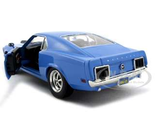 1970 FORD MUSTANG BOSS 429 BLUE 124 DIECAST MODEL CAR