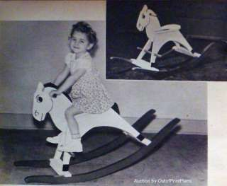 How to Build a WOODEN ROCKING HORSE 1948 PLANS