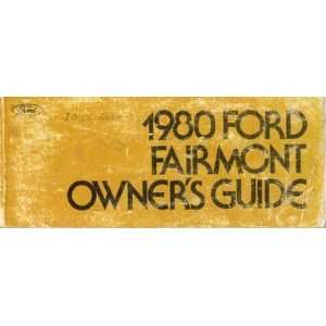 1980 Ford Fairmont Owners Manual Ford Books