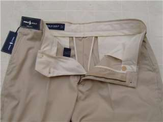 Polo Ralph Lauren Mens 32/30 Link Golf Pima Cotton Pants Cream Khaki